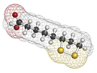 Lipoic acid enzyme cofactor molecule.