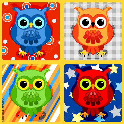Seamless patchwork birds-3