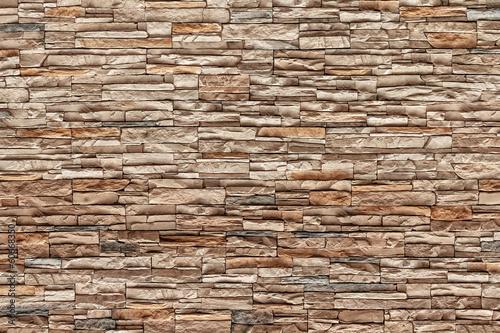 Brown Bricks wall, Natural color - 60668350