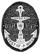 Vintage Hand Drawn Flourish Anchor Badge - 60668568