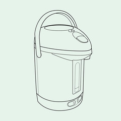 Thermo Pot out line vector