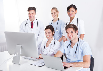 Medical Doctors Group At Hospital