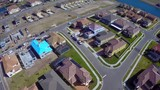 Aerial video of a housing community under construction