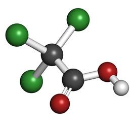 Trichloroacetic acid (TCA) molecule.