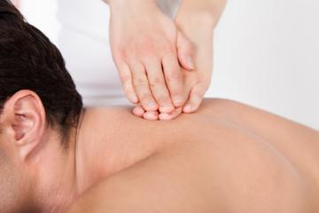 Man Getting Spa Treatment