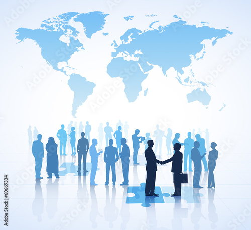 Global Business Communication vector
