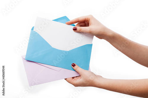 Colorful envelopes for your text
