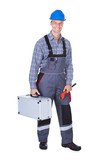 Male Worker With Toolkit