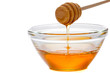 Honey  with dipper and glass bowl