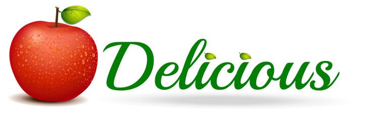 A delicious apple