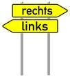 Schild rechts / links