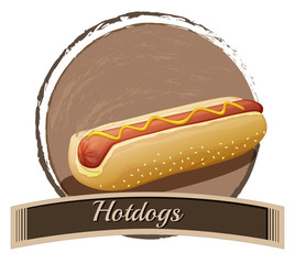 Hotdog label