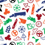 automotive colorful icon pattern eps10
