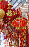 Shop selling traditional decoration stuffs for Chinese New Year