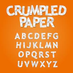 Crumpled Paper Alphavet