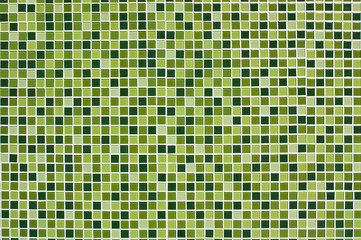Wall and floor mosaic tiles in green