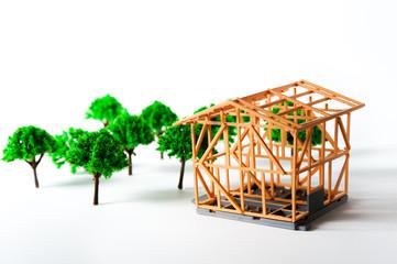 庭付きの一戸建て