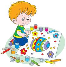 Dziecko zwraca jajka wielkanocne