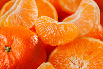 Tangerine fruit background