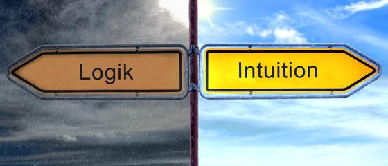Strassenschild 2 - Intuition