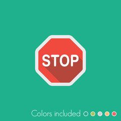 Stop - FLAT UI ICON COLLECTION