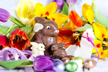 Frohe Ostern: Fröhlich-buntes Osternest