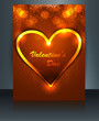 Beautiful card for valentine's day heart brochure colorful refle