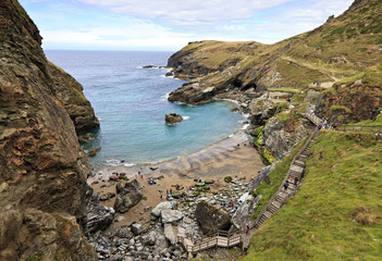 Coastline near Tintagel in Cornwall, England, United Kingdom
