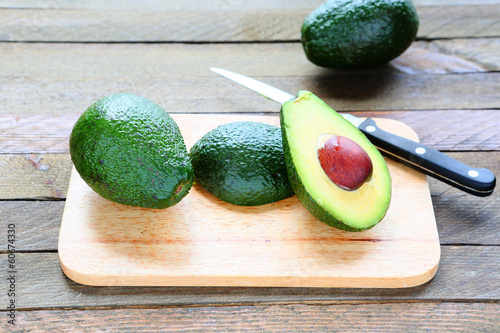 Avocado whole and sliced