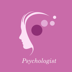 Vector purple Logo psychologist