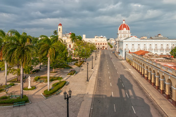 Aerial view to Jose Marti park