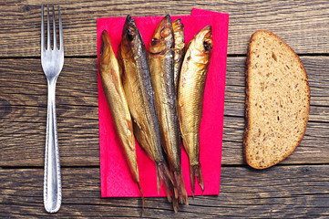Smoked fish on board