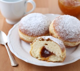 German Krapfen-doughnuts, filled with jam