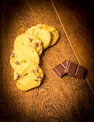 butter cookies with chocolate chips