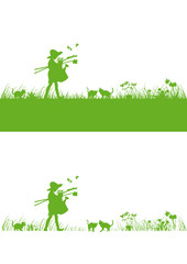 set background banner springtime vektor