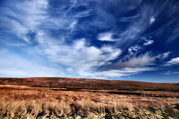 Sally Gap and the Wicklow Hill in rural Ireland