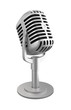 Desktop microphone on white background