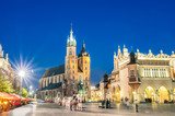 Fototapety Rynek Glowny - The main square of Krakow in Poland
