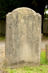 Blank Headstone In Cemetery