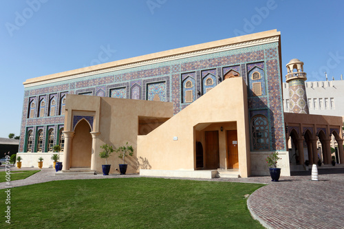 Traditional mosque in Katara Cultural Village, Doha, Qatar