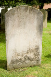 Blank Headstone In Graveyard