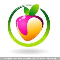 strawberry, logo, fruits, illustrations, vector, food