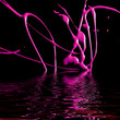 canvas print picture - liquid magenta paint