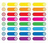 WEB BUTTONS POSTER (arrows website retro style rainbow colours)