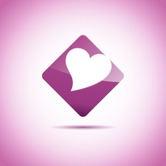 Vector Logo violet love hearth