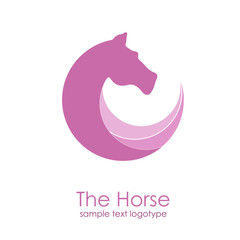 Vector violet 	Logo horse in motion