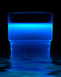 blue fluorescent drink