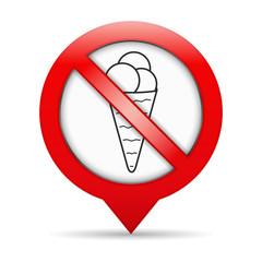 No Ice Cream Sign