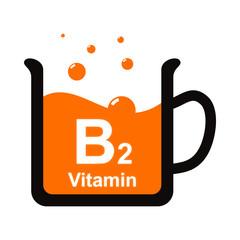 Symbol of a cup of B2 vitamin