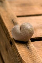 Herzförmige Kartoffel